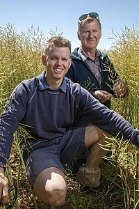 Canola father and son